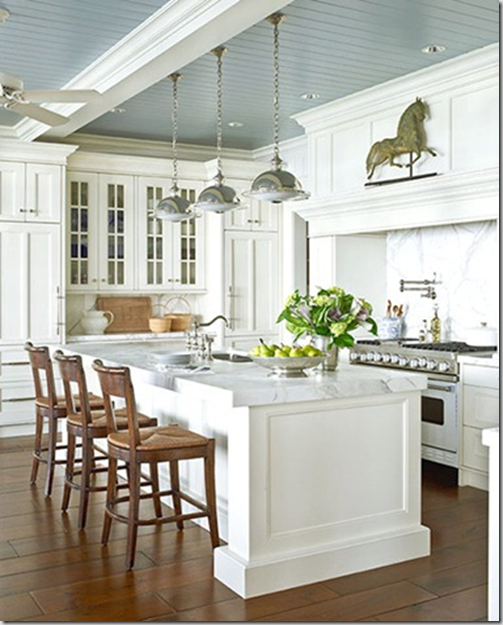 Blue Kitchen Ceiling: Developing Designs Blog By Laura Jens Sisino : Blue Skies